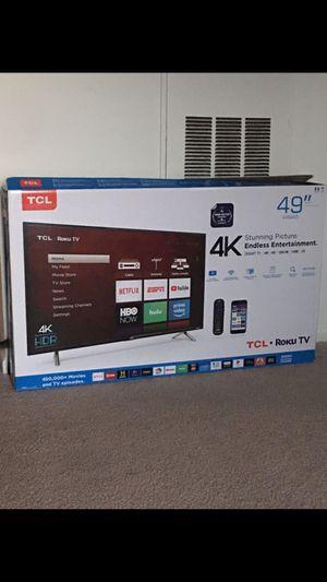 Brand New 49inch 4K TCL Roku Smart TV Latest Model for Sale in Ashburn, VA