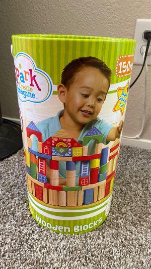 Wooden blocks kids toys for Sale in Sacramento, CA