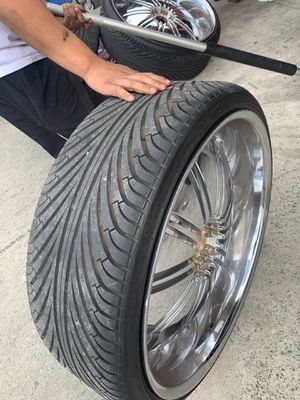26 inch rims and tires for Sale in San Diego, CA