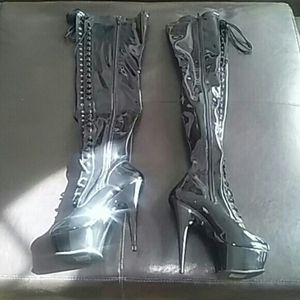 Pleaser thigh high stripper boots for Sale in Gainesville, VA