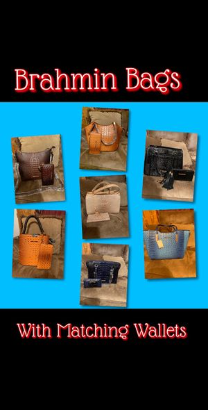 Brahmin Bags with matching wallets for Sale in Waynesboro, MS