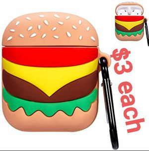 Punswan Hamburger Airpod Case for Apple Airpods 1 and 2, $3 each for Sale in Los Angeles, CA