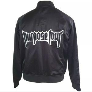 Justin Bieber Purpose Tour Satin Bomber Jacket Womens L Concert Merchandise for Sale in Bartow, FL