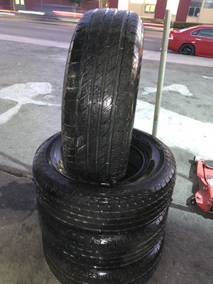 265/70/17 4 used tires $180 installed and balanced for Sale in Long Beach, CA