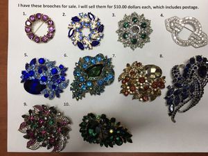 Costume Brooches for Sale in Windermere, FL