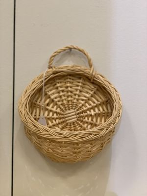 Wicker Bamboo Rattan Hanging Basket Wall Pocket Plant Basket Hanging Plant Holder for Sale in Aliso Viejo, CA