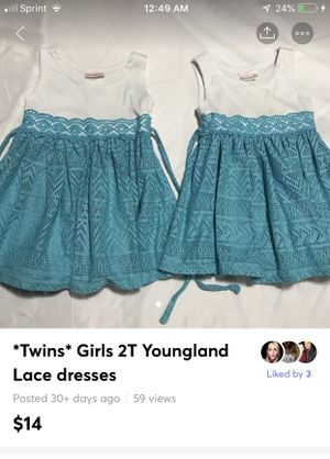 *Twins* Girls 2T Youngland Lace dresses , includes both you see in the pictures Excellent clean condition no pets no smoke for Sale in Bethlehem, PA