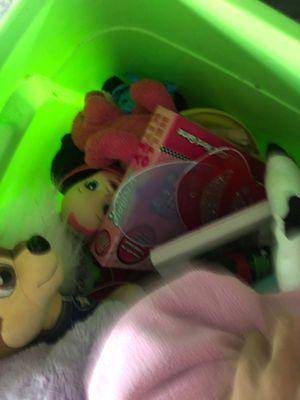 Bucket of nice toys lol Barbie paw patrol baby alive for Sale in Tarpon Springs, FL
