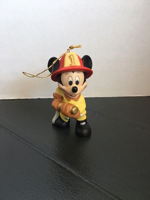 Disney Fireman Mickey Mouse Christmas Figurine Ornament for Sale in Los Angeles, CA