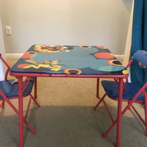 Disney Mickey mouse kids table with 2 chairs for Sale in Tampa, FL