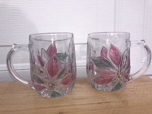 Glass flower mugs for Sale in San Mateo, CA
