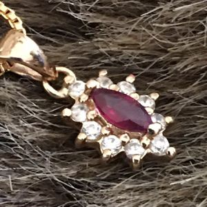 Vintage gold vermeil ruby and diamond pendant for Sale in Henderson, NV