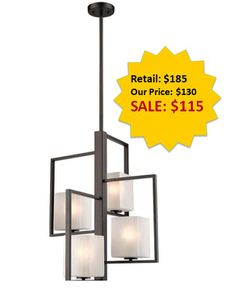 Wilmington 4-Light Oil Rubbed Bronze Chandelier with Crackled Glass NEW for Sale in Plantation,  FL