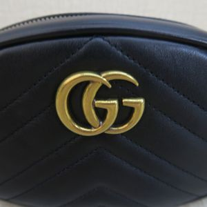Gucci Marmont Matelassé Waist Black Leather Belt Bag for Sale in Fort Washington, MD