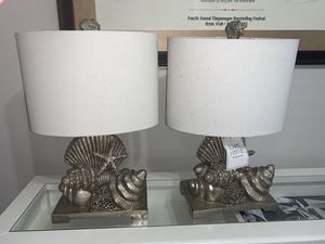 Sea shell theme side lamps for Sale in Sun City, AZ