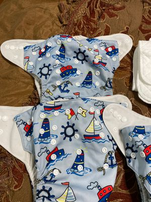 Baby Cloth Diapers Washable with Inserts for Sale in Chantilly, VA