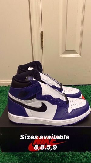 NEW NIKE AIR JORDAN 1 RETRO COURT PURPLE SIZE 8.5 9 for Sale in Fort Washington, MD