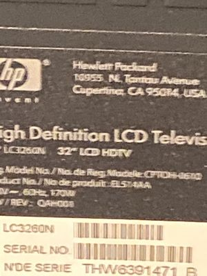Hp tv 32 with 2 hdmi ports and other inputs Also tv stand with it for Sale in Southington, CT