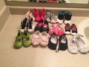 Newborn baby girl shoes 12 pcs for Sale in Sudley Springs, VA