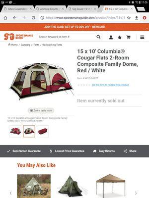 Columbia 10'x16' 10 person dome tent. for Sale in Phoenix, AZ