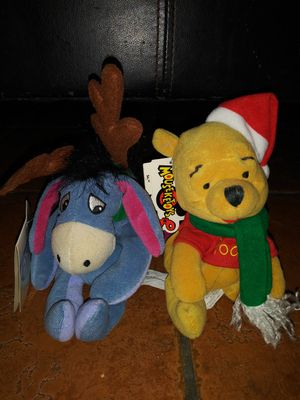 Electrical Christmas new with tags Disney Winnie the Pooh and Eeyore plush toys for Sale in Lawndale, CA