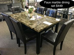 Brand new solid faux marble dining table set for Sale in Fresno, CA