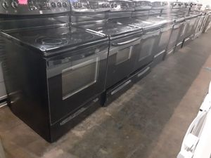 Black glass top electric stoves in excellent conditions with warranty from$175 & up ‼️ for Sale in Baltimore, MD