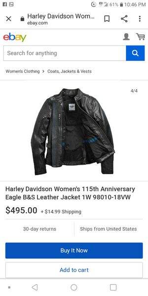 Women's Harley Davidson leather jacket for Sale in Murfreesboro, TN