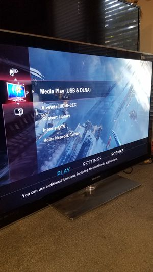 "55""Samsung Led Internet TV HD 1080p clear motion 240hz Content library model UN55B8000 for Sale in San Jose, CA"