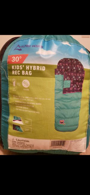 Kids' Hybrid rec bag sleeping bag for Sale in Oak Lawn, IL