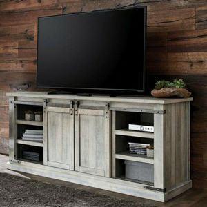 Best Offer Carynhurst Whitewash Extra Large TV Stand | W755-68 for Sale in Silver Spring, MD