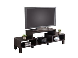 Wooden TV Stand with Shelves and Media Storage for Sale in Irvine, CA