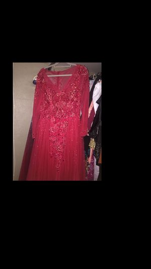 Red beaded gown prom dress good condition for Sale in Cleveland, OH