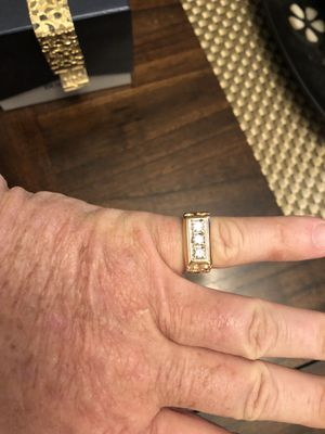 14k 3/4 diamond nugget ring for Sale in Bradenton, FL