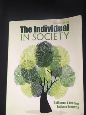 The Individual In Society by Guillermo J. Grenier and Fabiana Brunetta for Sale in North Miami Beach, FL