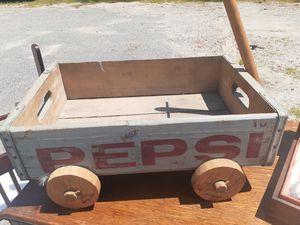 VINTAGE PEPSI WOODEN CRATE WAGON for Sale in Newport News, VA