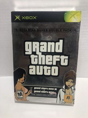 XBOX Collection Grand Theft Auto 3 & Grand Theft Auto Vice City complete with manual for Sale in Los Angeles, CA