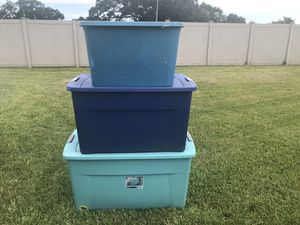 STERLITE STORAGE TOTES for Sale in Clearwater, FL