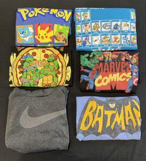 Kids Boys Clothes Bundle Lot of 6 Pokemon/Marvel/Mario/Batman/Nike/Ninja Turtles for Sale in Lynwood, CA