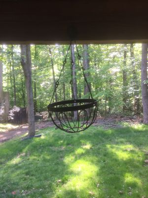 Three metal hanging baskets for Sale in Herndon, VA