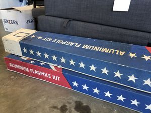 25ft ground set Aluminum flag pole kit - new - never opened for Sale in Carlsbad, CA