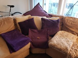 Purple and Gold Pillows and Blankets for Sale in Seattle, WA