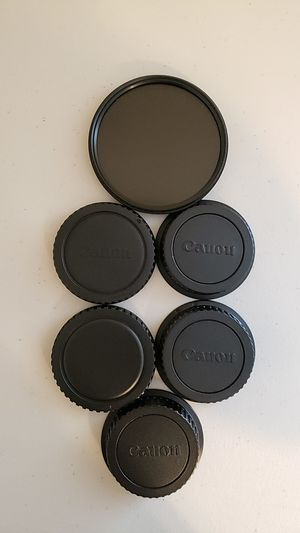 Canon lense & Body Caps + Variable ND Filter for a 24-70mm Lens for Sale in San Antonio, TX