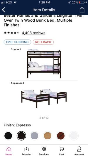 FREe Twin wood bunk bed bottom only FREE must pickup today for Sale in Wheaton, MD