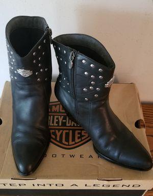 Harley Davidson Women's Motorcycle Boots Sz 8 1/2 for Sale in Deer Park, TX