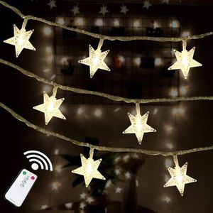 Star String Lights 100 LED Remote Control Plug in LED Fairy String Lights for Wedding Party Patio Christmas Tree Holiday Indoor Outdoor Bedroom Decor for Sale in Pomona, CA