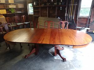 Antique dining table and chairs for Sale in Seattle, WA