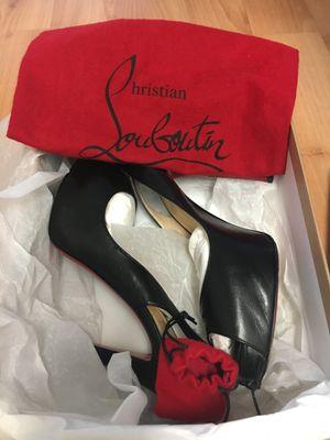 Authentic Louboutin No Prive Slingbacks, Black, 9 for Sale in Alexandria, VA