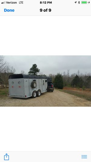 Two horse gooseneck trailer with living quarters/changing area. for Sale in Smyrna, TN