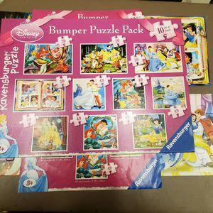 Disney Princess Ravensbuger Puzzles for Sale in Arlington, WA